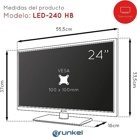 Grunkel - LED-240 HB - Televisor LED Full HD Alta definición. Fabricado en España - 24 pulgadas - Blanco: Amazon.es: Electrónica