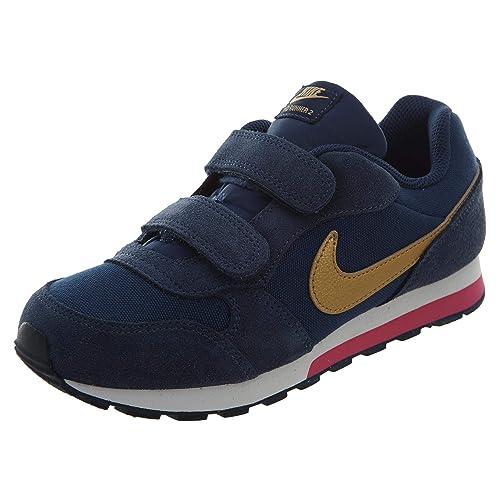 cb2122756 Nike MD Runner 2 (PSV) Marine Blanco or Metallique EU33  Amazon.es  Zapatos  y complementos