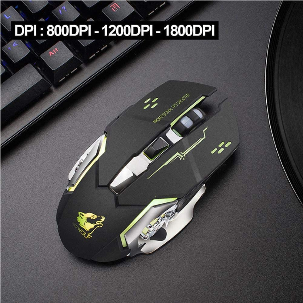 1# Ergonomic Design 2.4g Wireless Technology Dpi Adjustment Three-Speed Variable Speed Wireless Charging Silent Lighting Mechanical Mouse Wireless Mouse Gaming Mouse