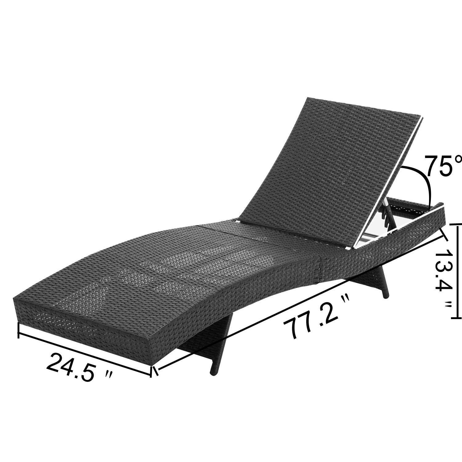 Round Folding Dining Table, 1pc 6085 Mcombo Outdoor All Weather Adjustable Recline Wicker Chaise Lounge Chair Rattan Bed Pool Patio Rust Rust Free Aluminum Lounge Chairs Patio Lawn Garden