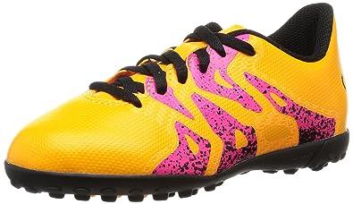 adidas X 15.4 TF, Unisex-Kinder Fußballschuhe, Schwarz (Core Black/Shock Pink/Solar Gold), 38 EU (5 Kinder UK)