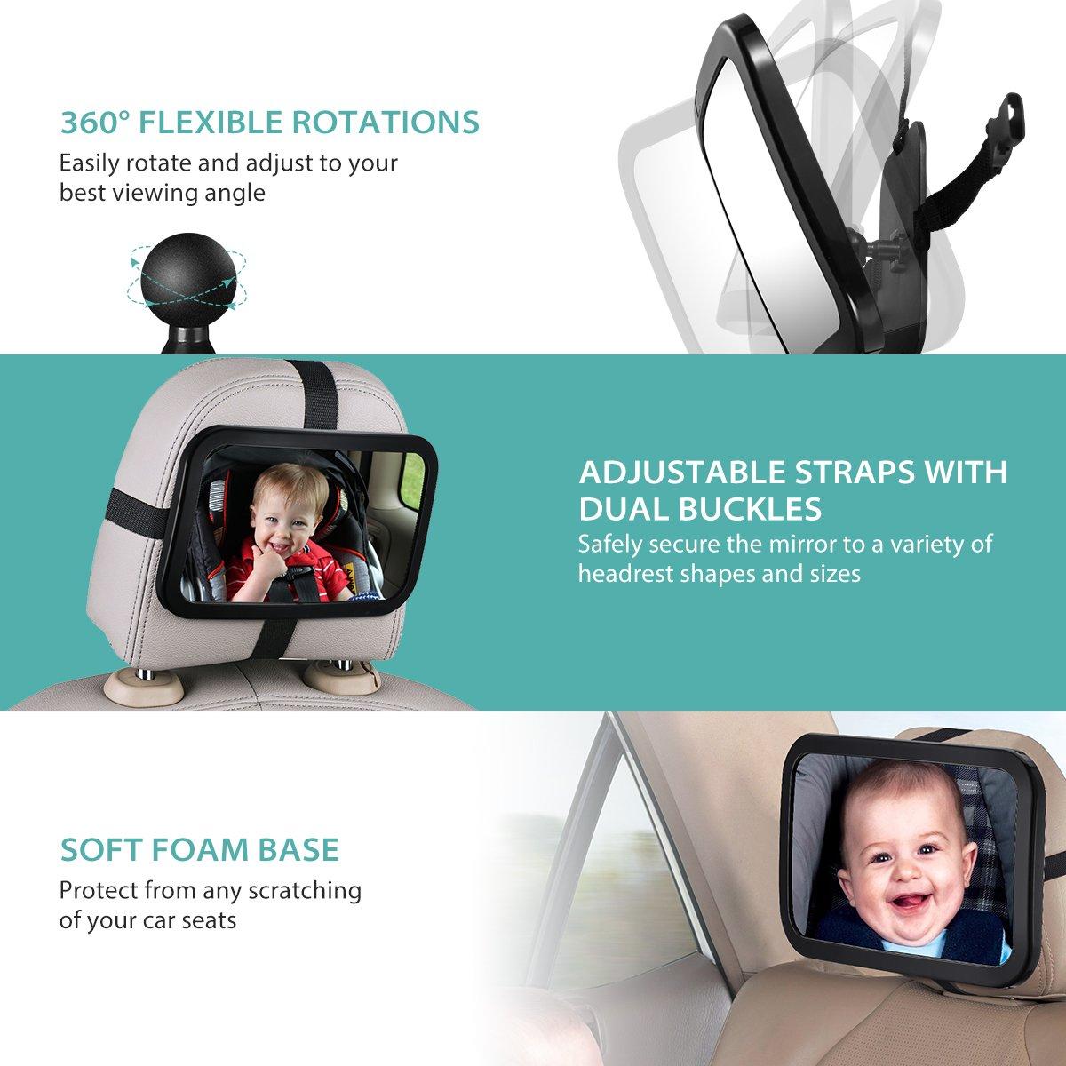 Espejo retrovisor para vigilar al bebe en el coche por solo 14,89€