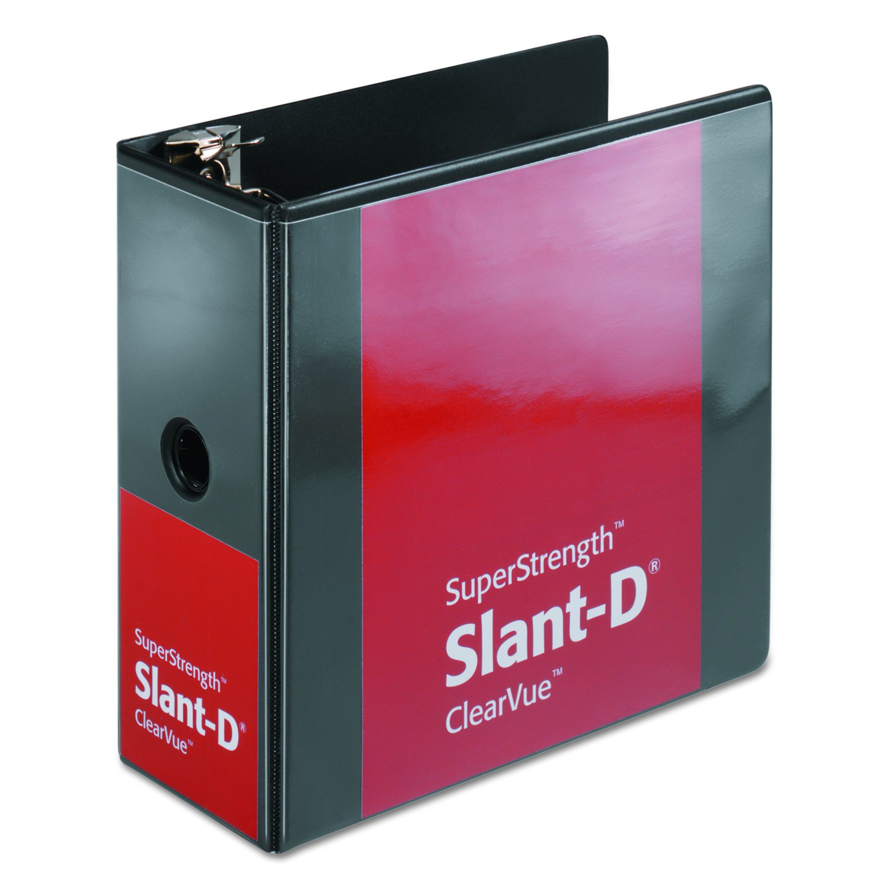 Cardinal SuperStrength ClearVue Locking Slant-D Ring Binder, 5-Inch, Black (10901) by Cardinal