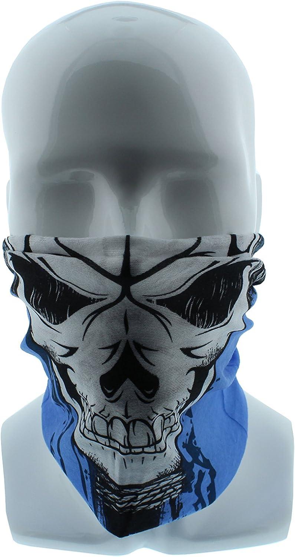 Under Motorcycle Helmet Ski Redneck Convent Seamless Wide Tube Bandana Balaclava Face Mask for Men /& Women Costume Dust Paintball