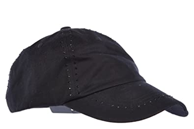 Emporio Armani EA7 adjustable women's hat baseball cap 7 lines ev w black  UK size S