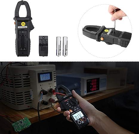 Pince Amp/èrem/étrique Livraison Al/éatoire Multim/ètre Num/érique//Test de Courant//Tension//Temp/érature//R/ésistance//Capacit/é//Fr/équence//Continuit/é//Noir et Jaune Tacklife CM02A 6000 Points