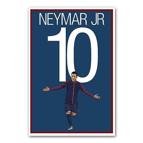 Amazon Com Neymar Jr Poster Paris Saint Germain Soccer Art Handmade