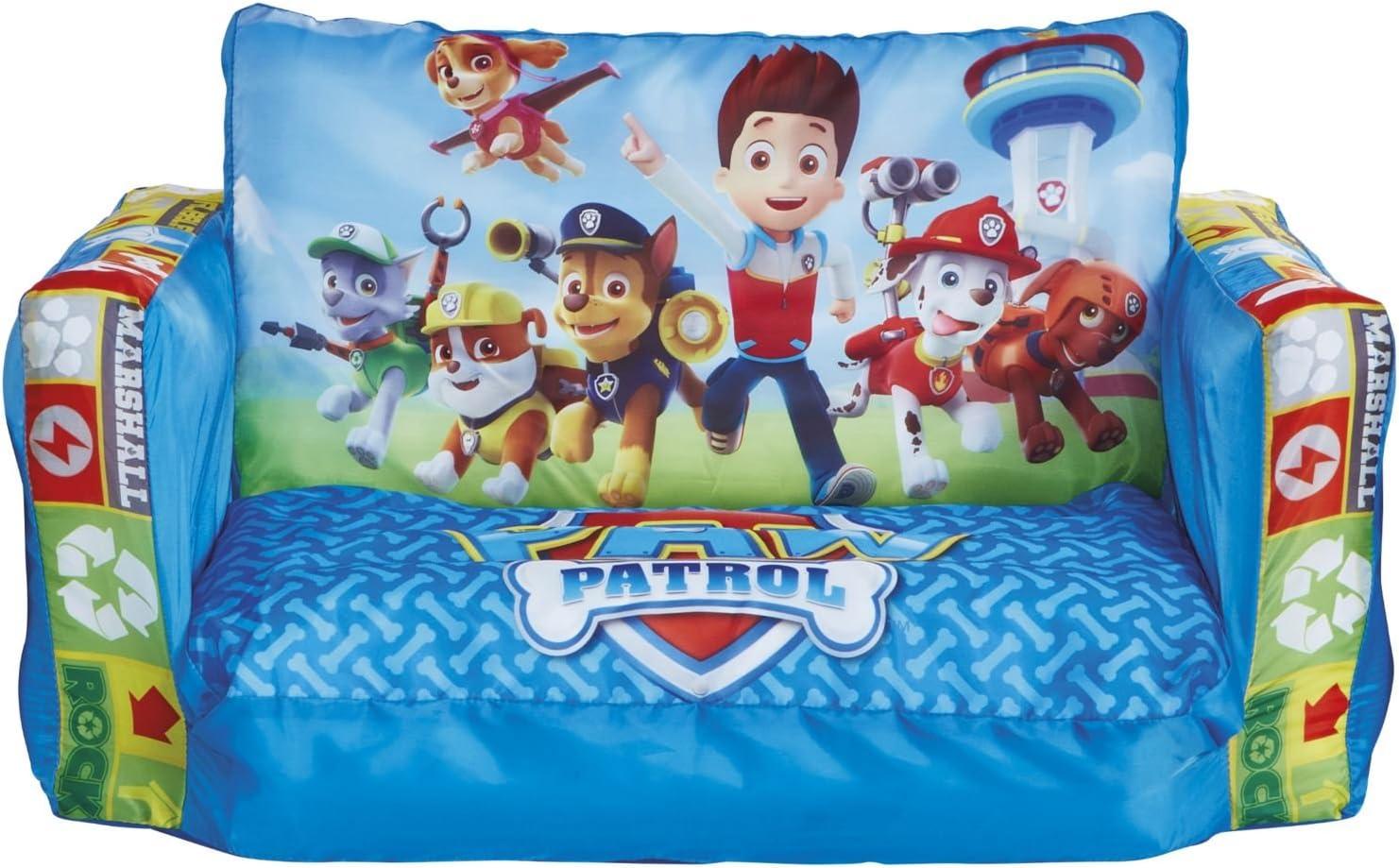 Paw Patrol 286PAW Mini sofá y Tumbona desplegable 2 en 1, Acrílico, Azul, 26.00x68.00x105.00 cm
