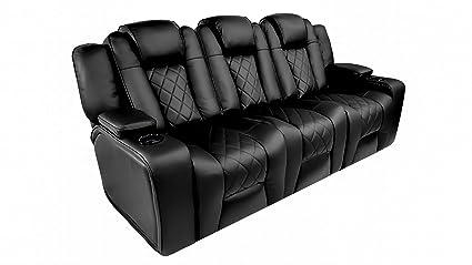 Amazon.com: Valencia Oxford Leather Black Power Recliner ...