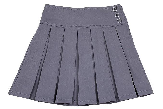 Bienzoe Niña Elástico Plisado Teflon Uniforme Escolar Danza Falda ...
