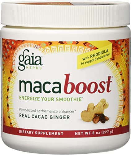 Gaia Herbs Maca Boost Supplement, Cacao Ginger, 8 Ounce – Energy Stamina, Aids Recovery, Vegan, Gluten Free