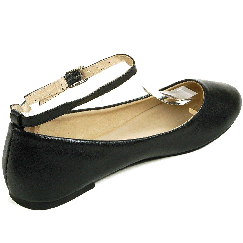 df67cbd1c Amazon.com   alpine swiss Womens Suede Lined Calla Ankle Strap Ballet Flats    Flats