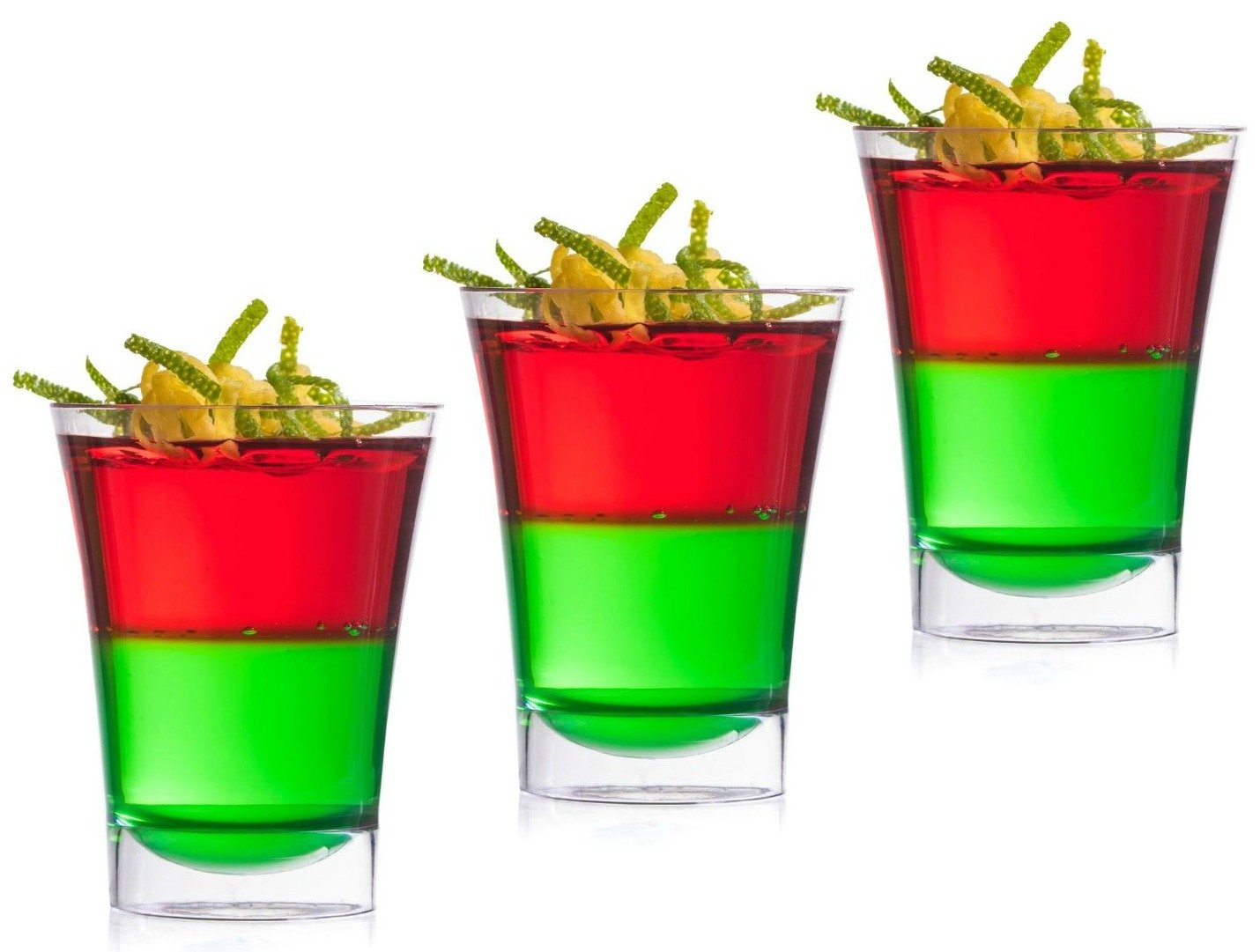Zappy Disposable Plastic Shot Glasses 2 Oz Clear Tumblers - Tasting Sample Dessert Shooters Wine Beer Champagne Jello Cup Shot Glass Cups (200) by zappy