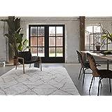 Tapis mèches hautes Afella Boho & Scandic, confortable, beige avec motif berbère sable taupe, 160 x 225 par Wecon home