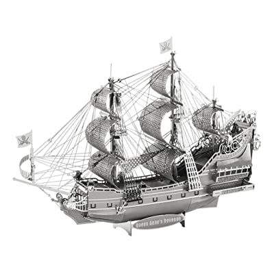 Metal Earth Fascinations ICX009 502894 – Construction Toy, Queen Anne's Revenge 2 Metal Board (Ages 14 +: FASCINATION: Toys & Games