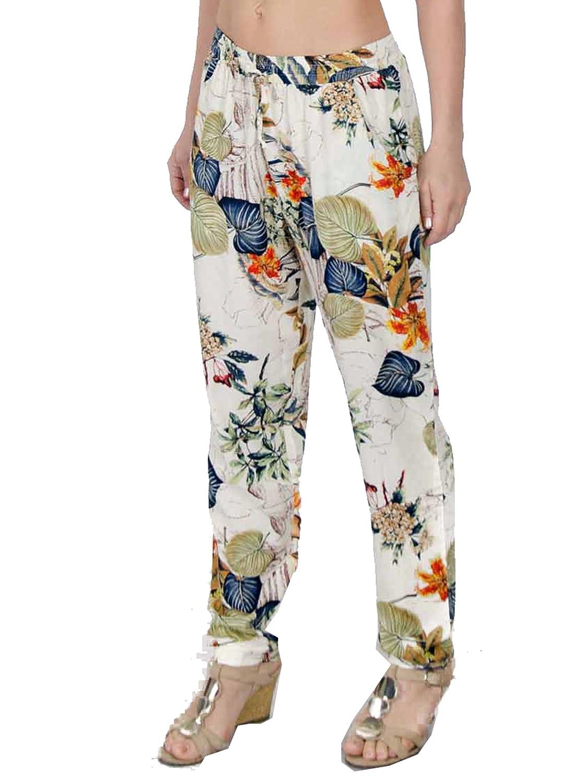 Ladies Bohemian Print Jogger Pants