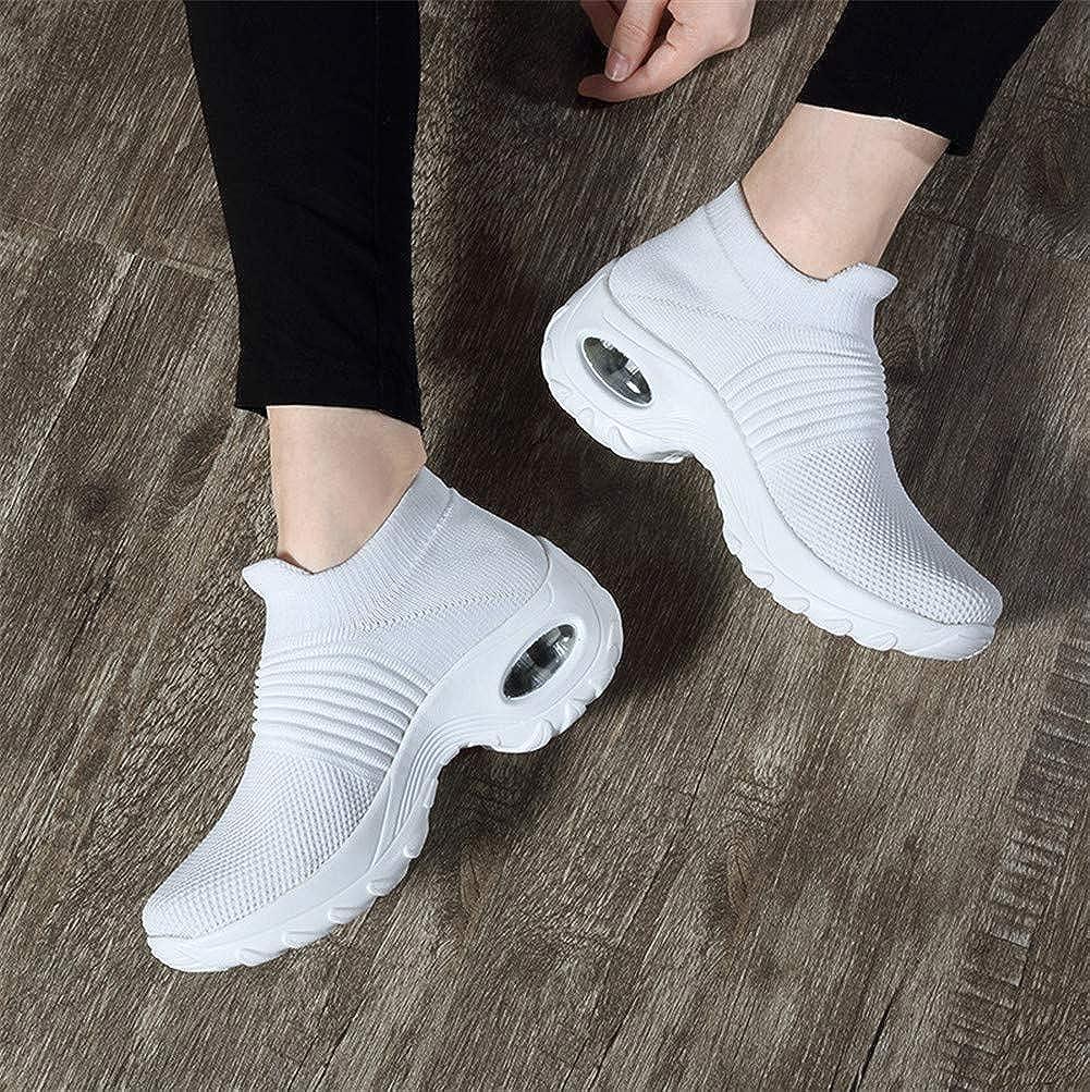 Womens Sock Sneakers Wedges Platform Nurse Slip On Walking Shoes Air Cushion Running Tennis Shoes