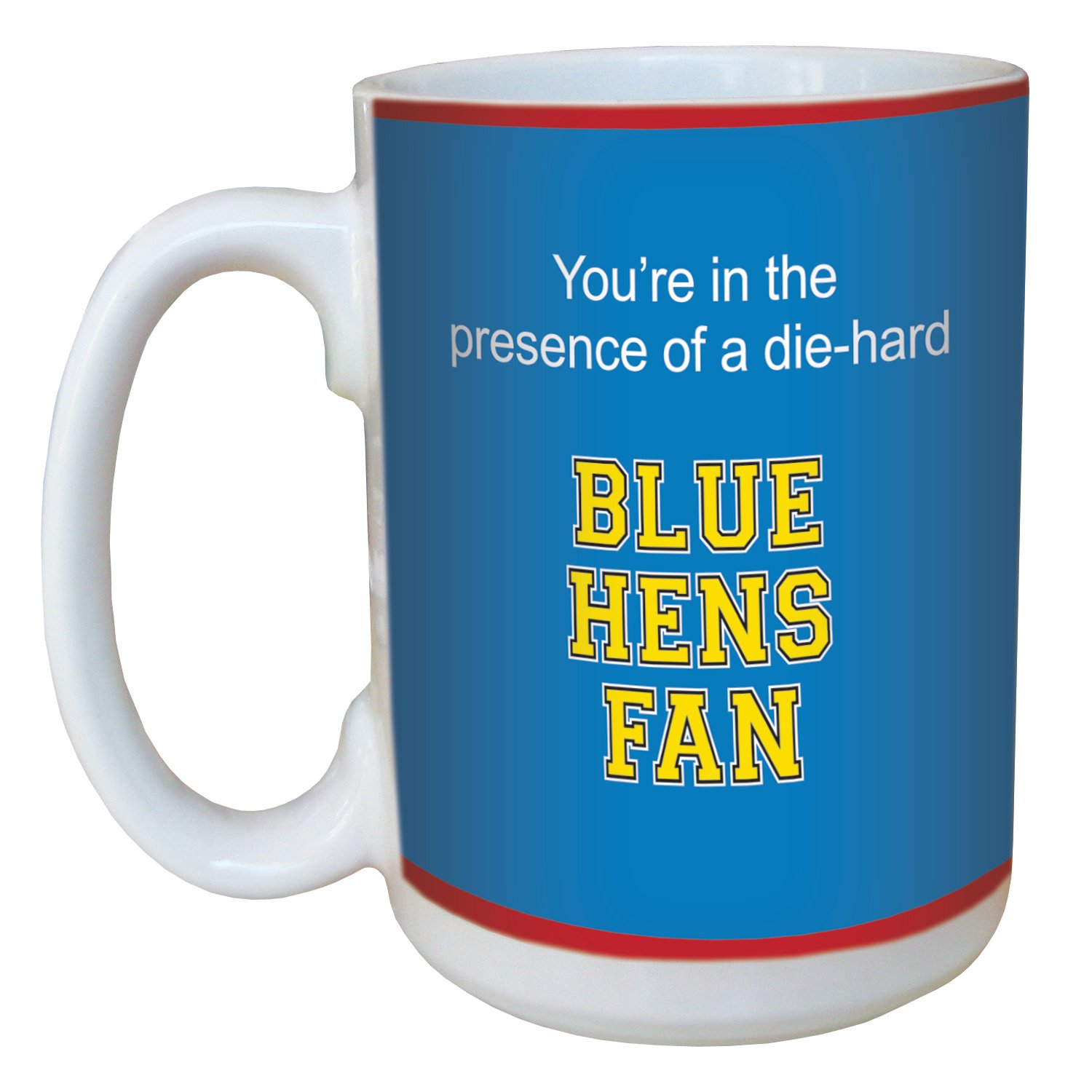 Tree-Free Greetings lm44422 Blue Hens College Football Fan Ceramic Mug with Full-Sized Handle, 15-Ounce