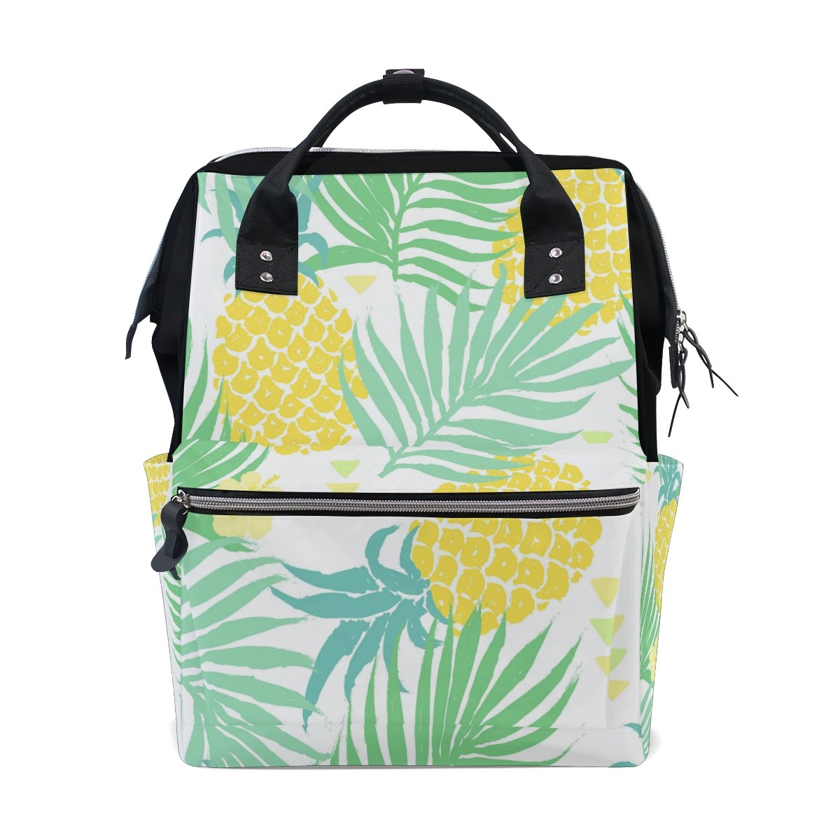 WOZO Tropical Palm Tree Pineapple Fruit Multi-function Diaper Bags Backpack Travel Bag