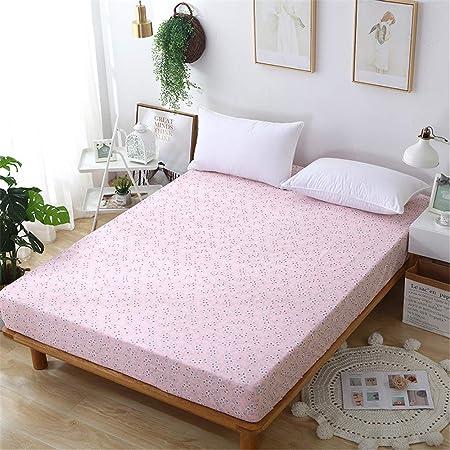 huyiming Sábanas de algodón engrosadas Dormitorio estudiantil Individual Doble 1.21.51.8 Funda de colchón de algodón otoño e Invierno 90X190 + 15: Amazon.es: Hogar