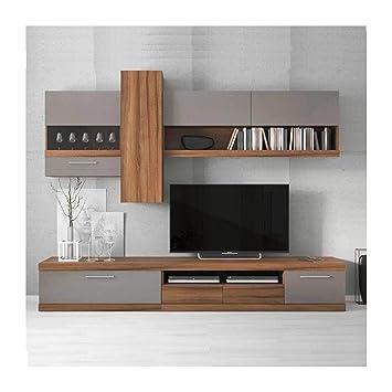 grand choix de fdf03 10564 Ensemble Meuble TV Lucia Gris 260cm: Amazon.fr: High-tech