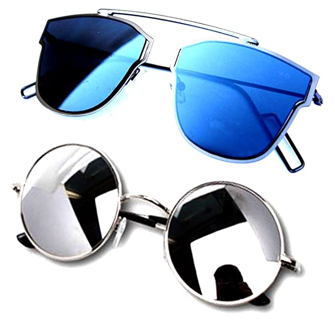1a048e679d Mr. Brand nNew Stylish Unisex Combo Pack Of 2 Sunglasses With 2 box (Bik-Cm  SUN 032-Ysdisbm-Ysrdssm