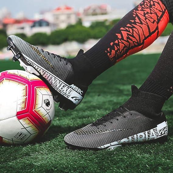 Zzzy Botas de fútbol Tacos Zapatos de fútbol con Clavos Profesionales Zapatillas de competición/Entrenamiento para niños: Amazon.es: Deportes y aire libre