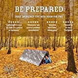 Don't Die In The Woods World's 2nd Toughest Ultralight Survival Tent | 2 Person Mylar Emergency Shelter Tube Tent + Paracord | Year-Round All Weather Protection For Hiking, Camping, Outdoor Survival Kits