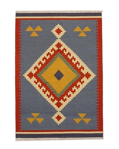 EORC DN6MU Handmade Wool Keysari Kilim Rug, 5 by 8-Feet