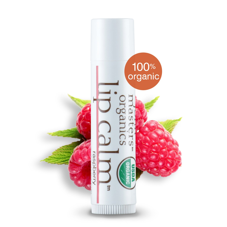 John Masters Organics - Lip Calm Raspberry - USDA Certified Organic Natural Lip Balm to Moisturize, Hydrate & Soothe Chapped Lips - 0.15 oz (Box of 12)