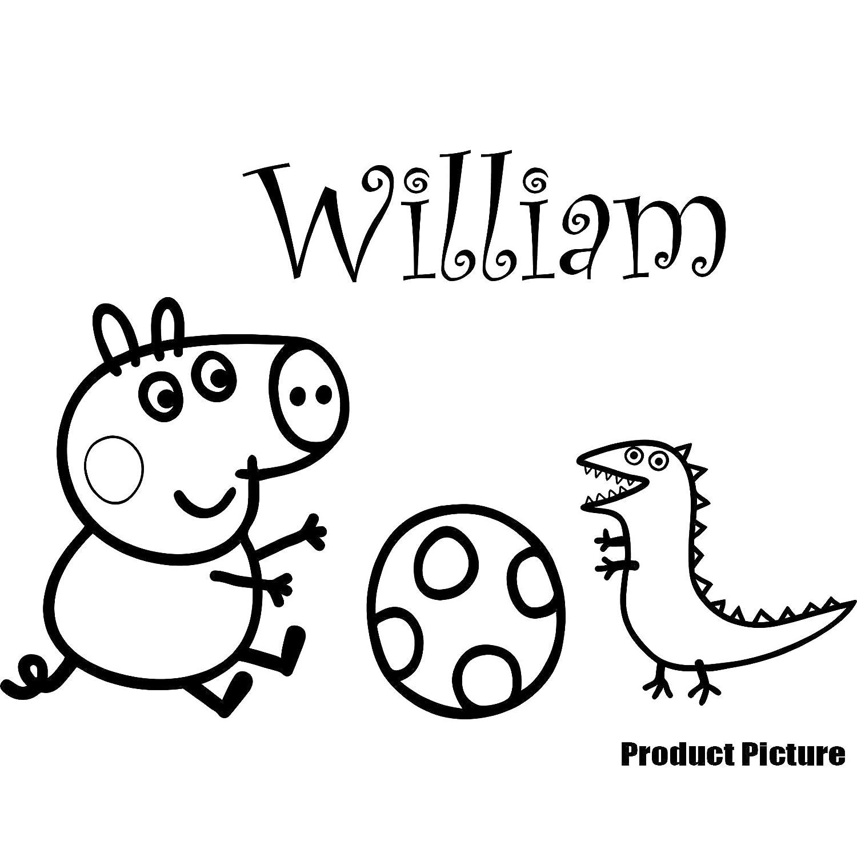 Peppa Pig George, dinosaurio, pelota con su nombre elegido 60 cm x ...