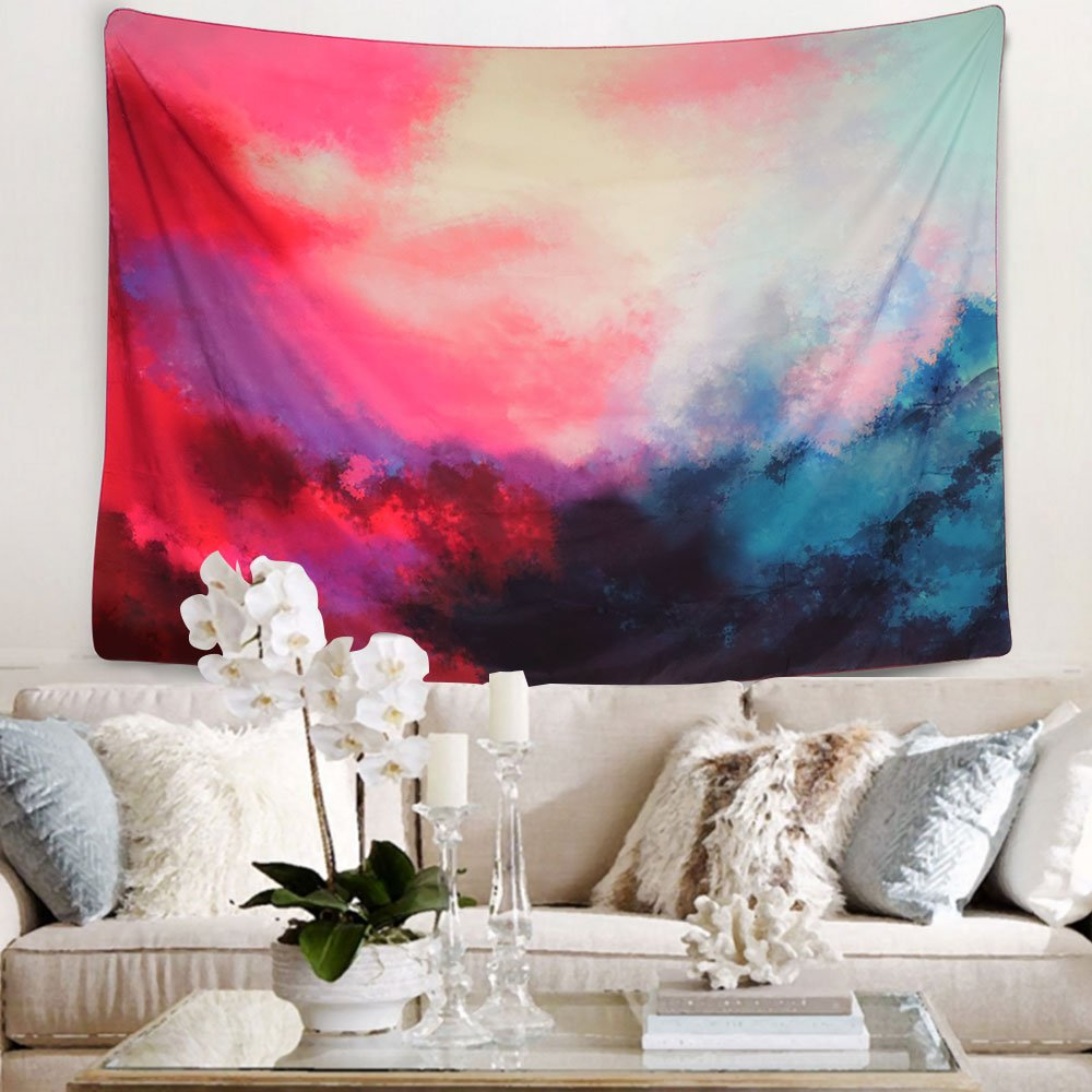 Tapestry Wall Tapestry Wall Hanging Tapestries Art Tapestry Flowing Cloud Tapestry Abstract Palette Tapestry Huge Tapestry Wall Blanket Wall Decor Wall Art Home Decor 59 X 51 Inches