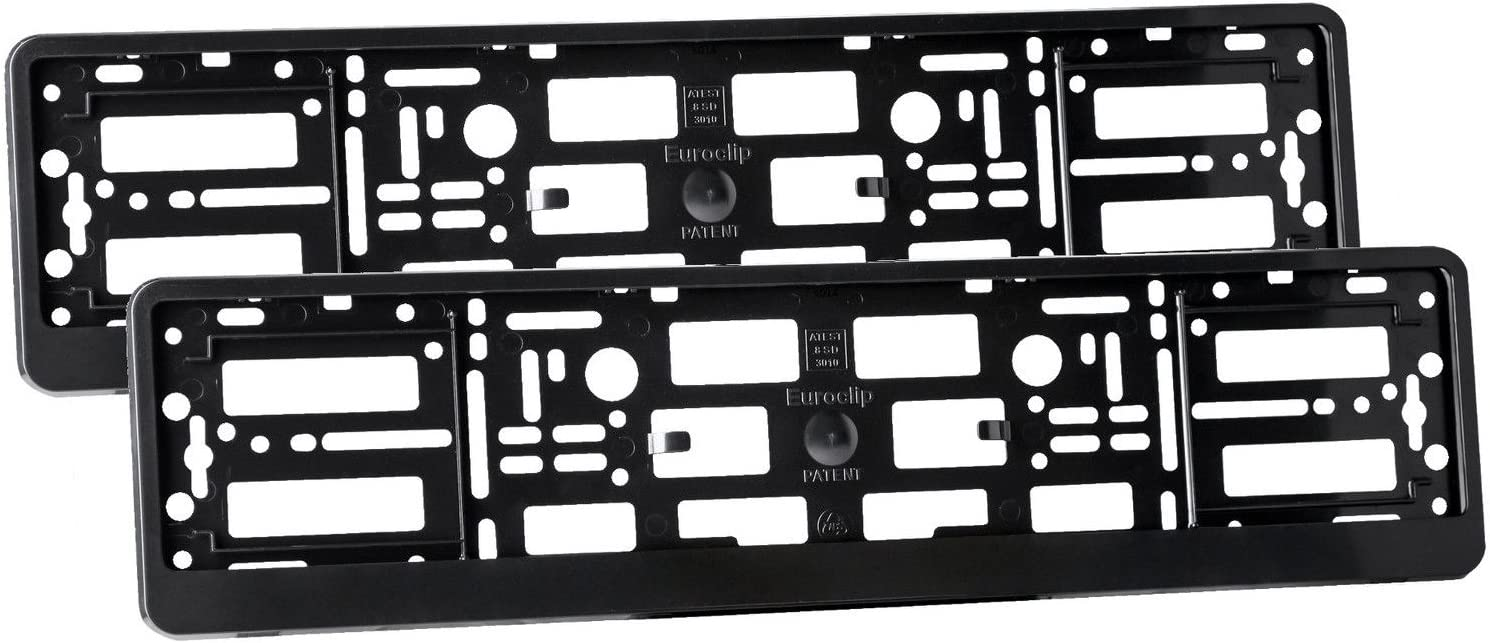 2x CARBON HOLDER FRAME for European Euro License Number Plate EU German FLEXIBLE