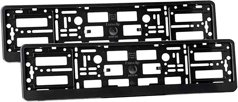 2 x Carbon Effect Number Plate Surrounds Holder Frame Bracket for Truck Trailer