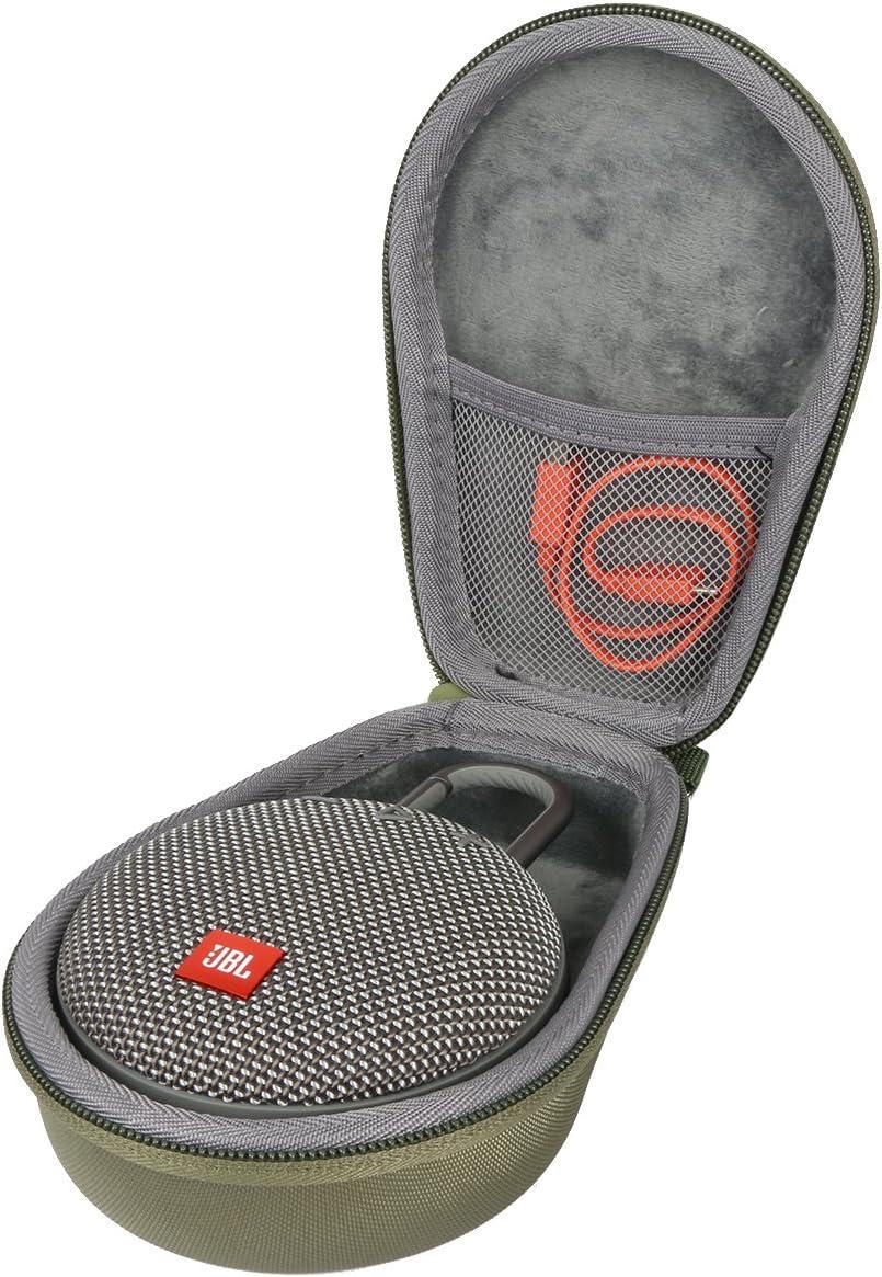 co2crea Hard Travel Case for JBL Clip 2//3 Waterproof Portable Wireless Bluetooth Speaker Black