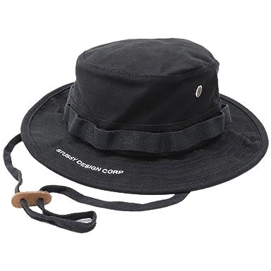 1d16f1ecc50  ステューシー  STUSSY ハット Jungle Cloth Boonie Hat 帽子 サイズL-XL ブラック