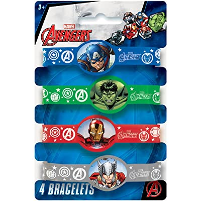 Avengers Silicone Wristband Party Favors, 4ct: Toys & Games