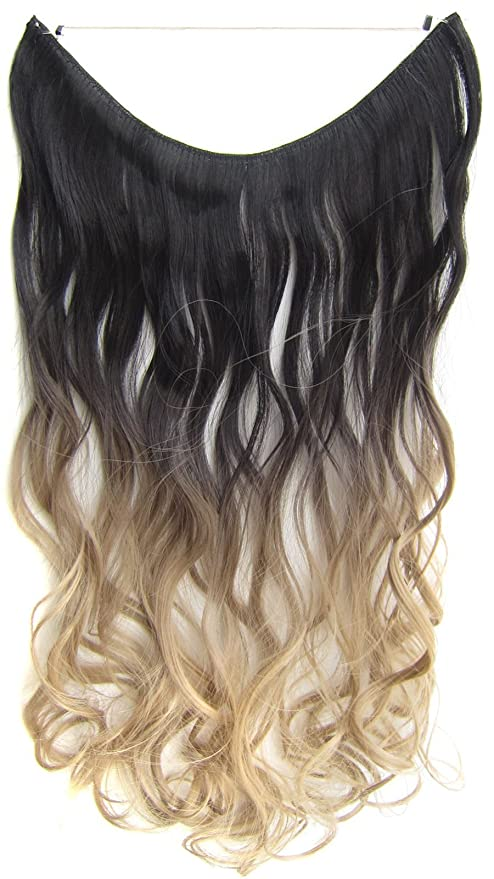 Buy 2t16 Flip In Wavy Curly Ombre Dip Dye Synthetic Hair Extension