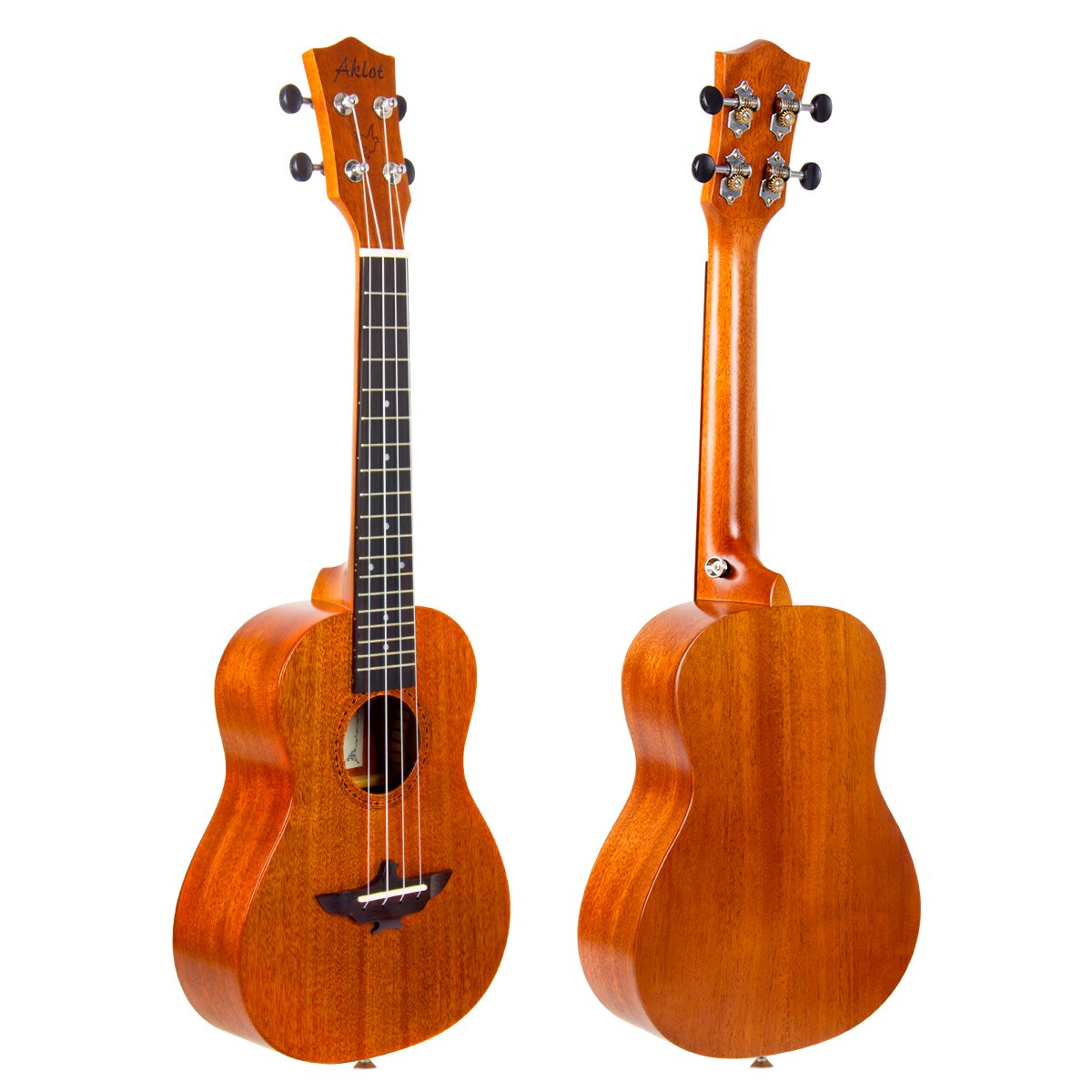AKLOT Tenor Ukulele All Bamboo Ukelele 26 inch 18 frets 18:1 Advanced Tuner Machine w//Gig Bag Strap Picks AKBT26