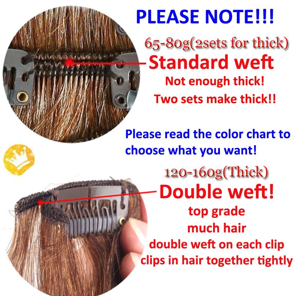 Lelinta 18'' 8Pcs 100% Remy Real Human Single Thick Weft Hair Straight Extension by Lelinta (Image #7)