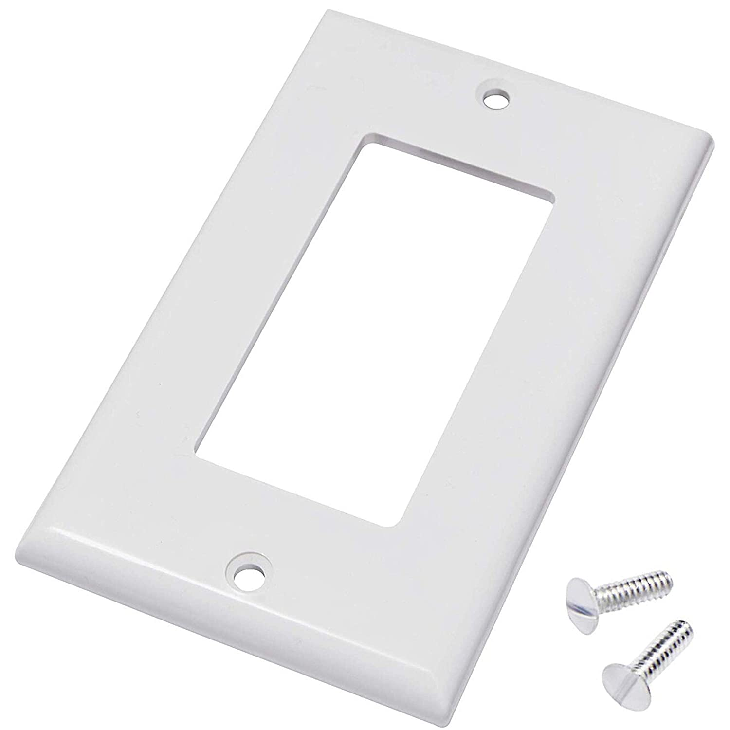 Decora Switch Plate (4 Pack) Decora Outlet Cover Decora Wall Plate Decora Cover Decora Receptacle Decora Outlet Covers Decora 1-Gang Wall Plate Decora Wall Plate - White