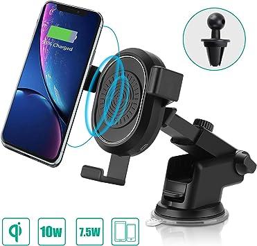 AURSEN chargeur sans fil rapide avec adaptateur QC 3.0 charge standard pour iPhone X//iPhone 8//8 Plus 10W Qi chargeur /à induction pour Samsung Galaxy S9//S9+//Note9//S8+//S8//S7//Note8//S6 Argent