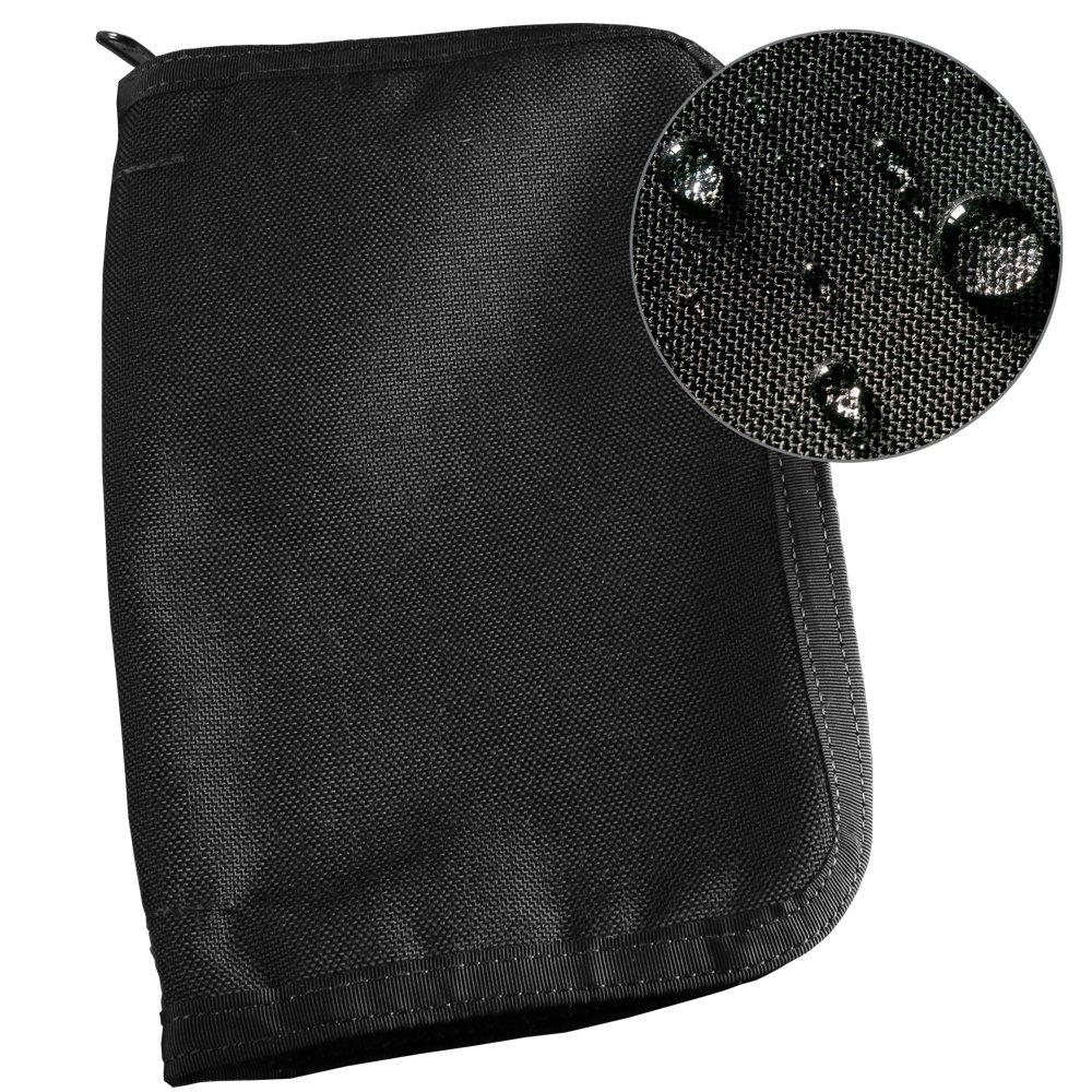 Rite in the Rain Weatherproof CORDURA Fabric Notebook Cover, 5 1/2'' x 8 1/2'', Black Cover (No. C980B)