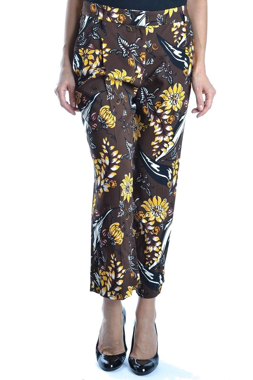 Brand Size 40 PRADA Women's MCBI15781 Brown Viscose Pants