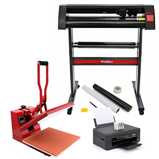 PixMax 38cm Clam Heat Press, Vinyl Cutter, Impresora ...