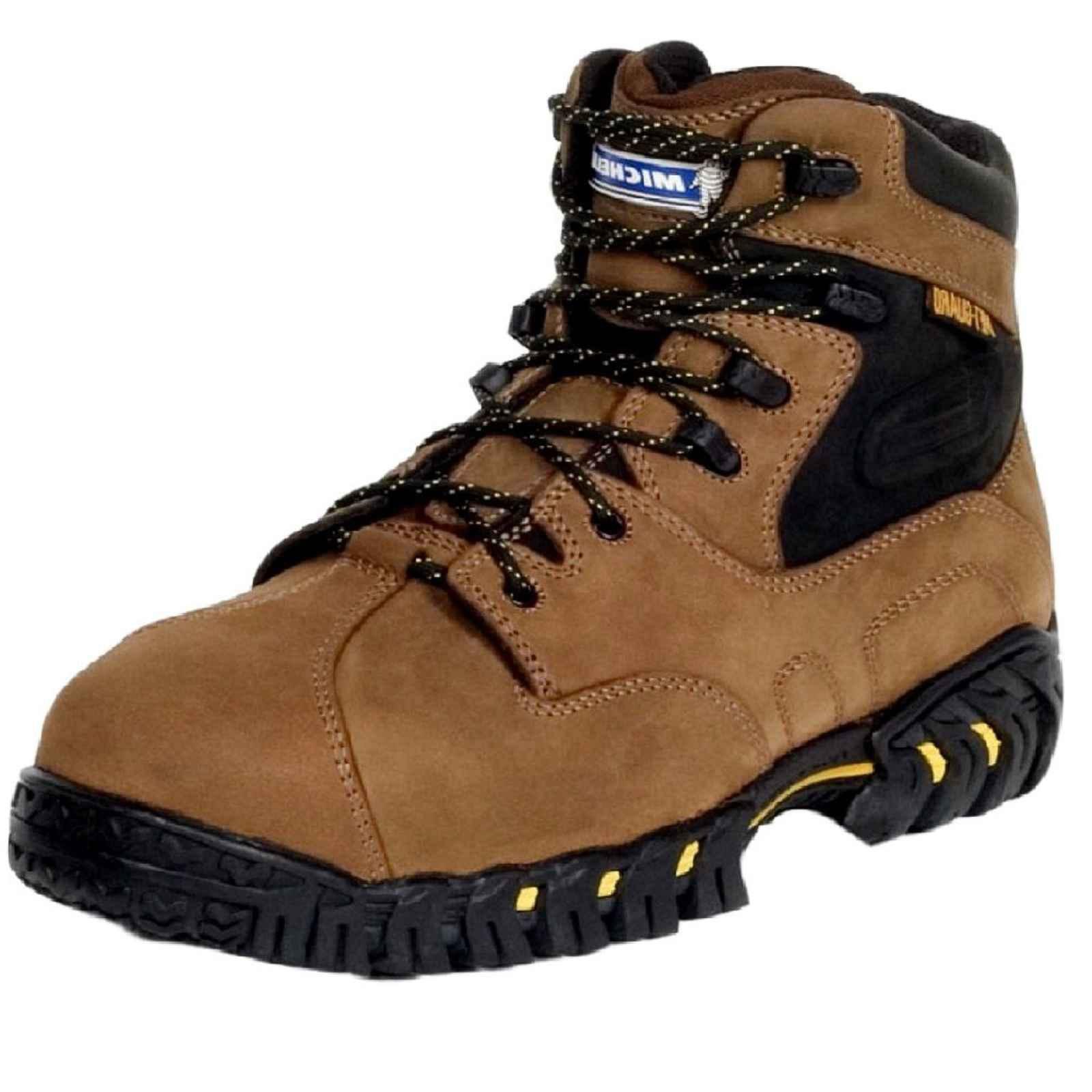 Michelin Men's Steel Toe Metatarsal Guard Hitop Boots,Brown,8 W