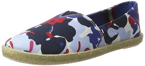 Tommy Hilfiger S1385ari 3d4, Alpargatas para Mujer, Azul (Denim Floral 901), 40 EU: Amazon.es: Zapatos y complementos
