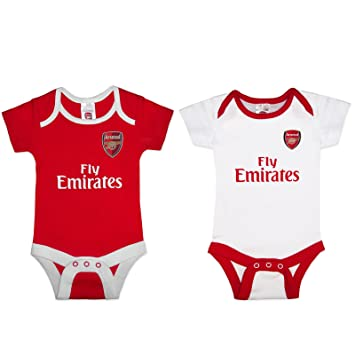 8c3749af1 Official Arsenal Baby Core Kit 2 Pack Bodysuits - 2017 18 Season (12 ...