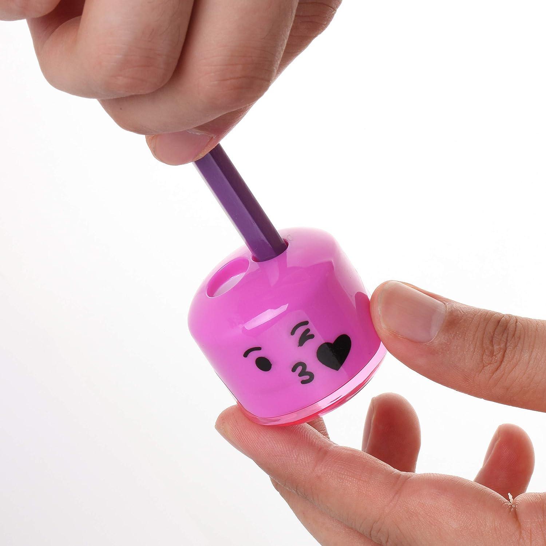 Emoji Sharpener 6 Pack Mr.Pen- Pencil Sharpener Pencil Sharpener ...