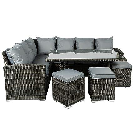 Fantastic Monaco 9 Seater Rattan Corner Dining Set Cjindustries Chair Design For Home Cjindustriesco
